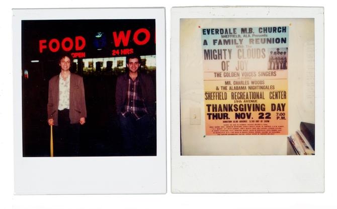 Wiffle Bat in Mr Lane's hand; Great Tribune Showprint poster at the studio
